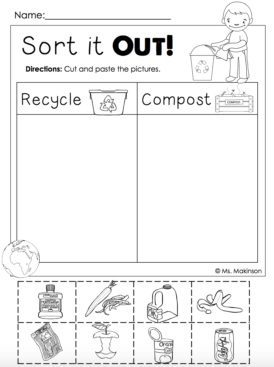Earth Day Free | Homeschool. | Pinterest | Earth Day Crafts, Earth - Free Printable Recycling Worksheets