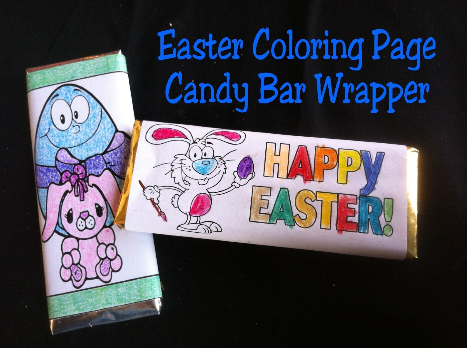 Easter Coloring Page Candy Bar Wrapper Free Printable | Free - Free Printable Birthday Candy Bar Wrappers