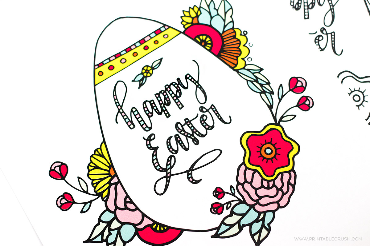 Easter Coloring Pages - Free Printable Kids Love! - Free Printable Easter Pages