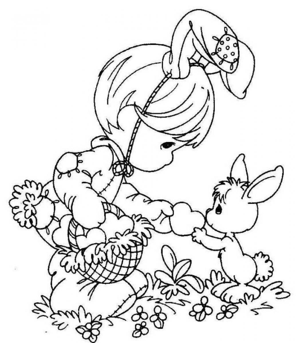 Easter Coloring Pages Free Printable Printables For Girls 1034×1200 - Easter Color Pages Free Printable