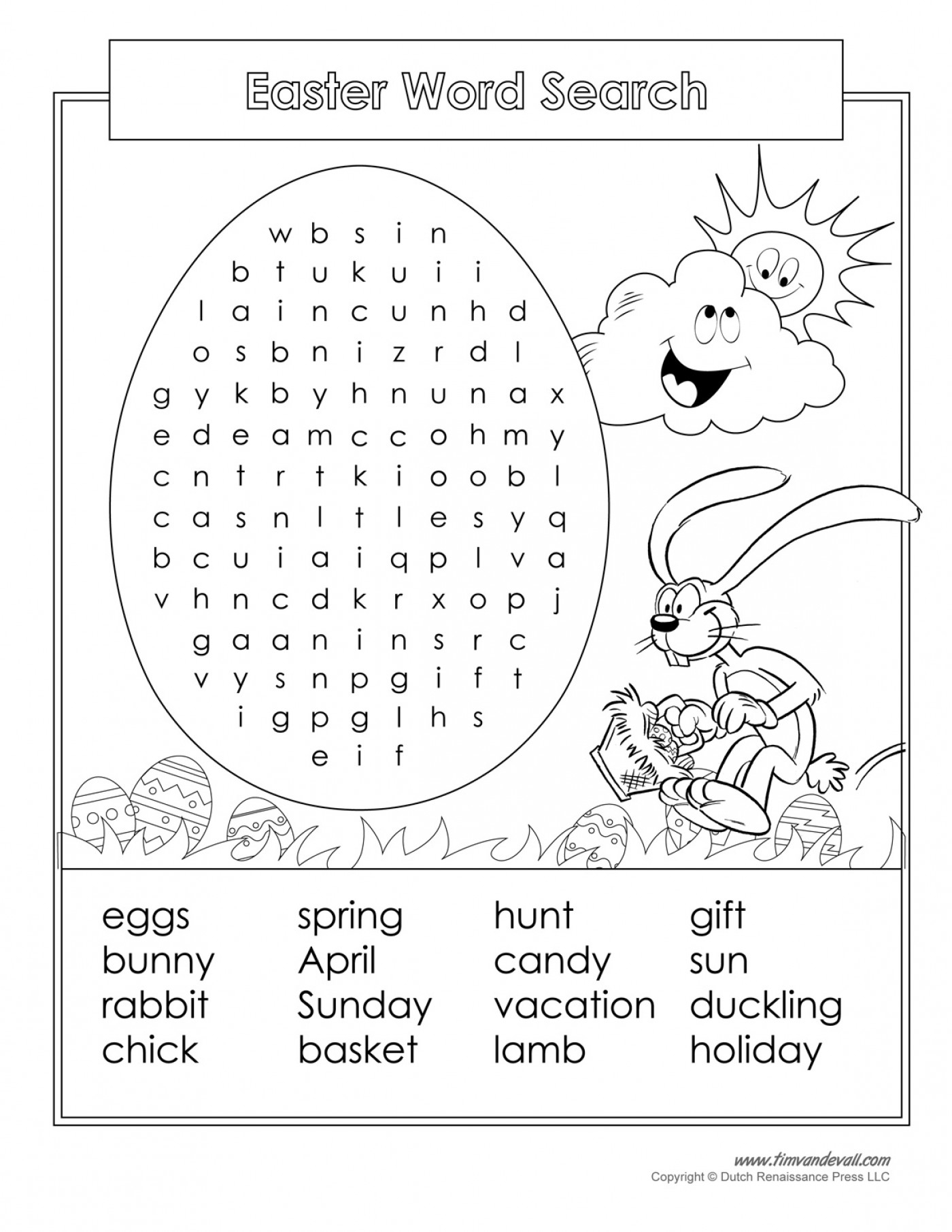 Easter Crossword Puzzle Printable Crosswords Free Word - Free Printable Easter Puzzles For Adults