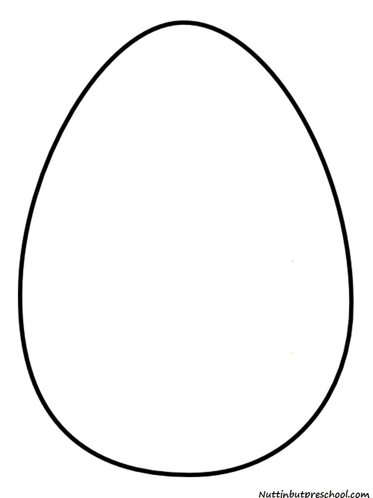 Easter Egg Templet | Easter Egg Pattern And Shiny Paint Recipe - Easter Egg Template Free Printable