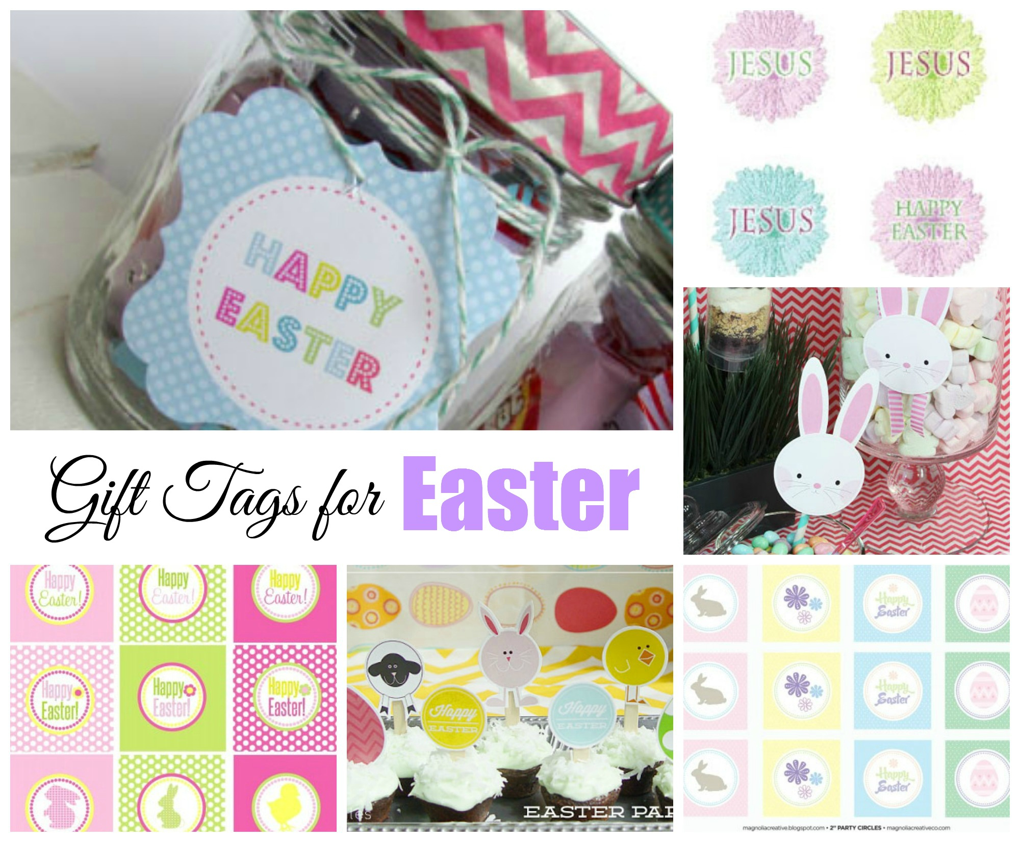 Easter Free Printable Gift Tags | Celebrating Holidays - Free Printable Easter Images