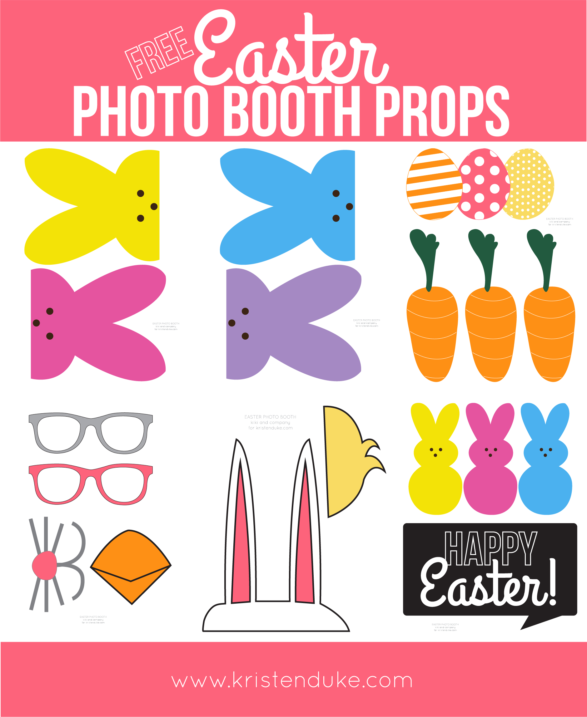 Easter Photo Booth Props From Capturing Joy With Kristen Duke - Free Printable Photo Booth Props Template