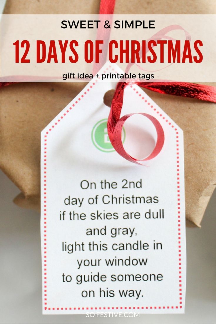 Easy 12 Days Of Christmas Idea + Printables | ☼ Family Ideas Galore - Free Printable 12 Days Of Christmas Gift Tags