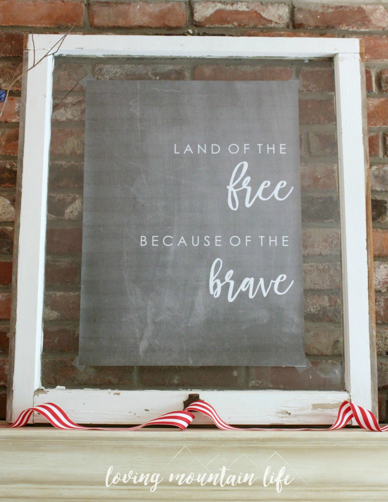 Easy Diy Patriotic Decor & A Free Beautiful Printable - Loving - Free Printable Patriotic Writing Paper