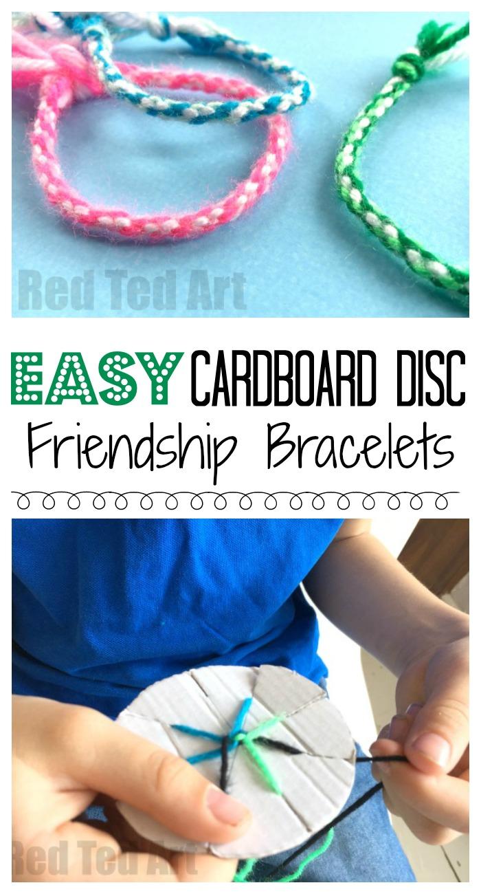 Easy Friendship Bracelets With Cardboard Loom - Red Ted Art's Blog - Free Printable Friendship Bracelet Patterns