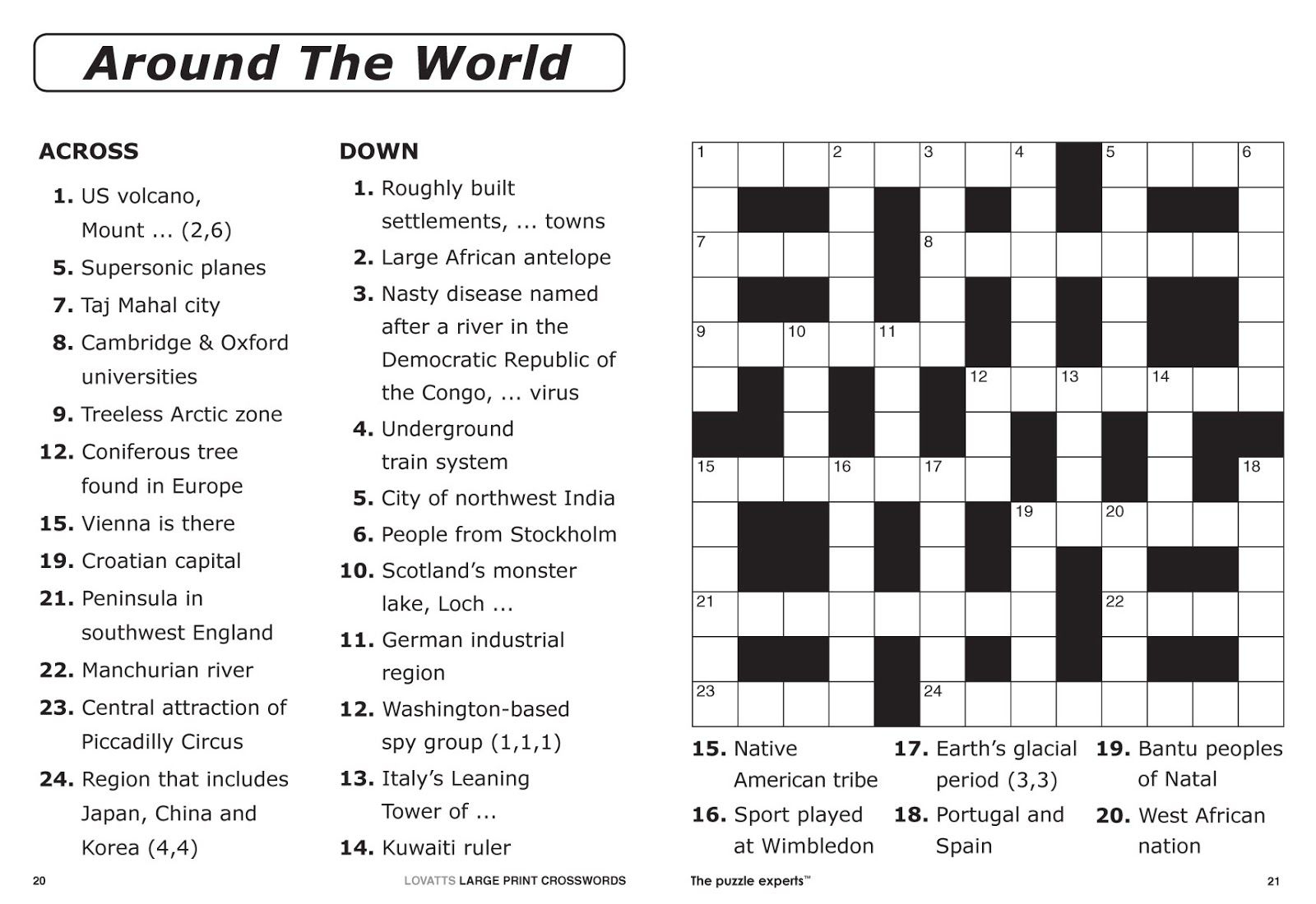 Easy Printable Crossword Puzzles | Elder Care & Dementia Care - Free Printable I Spy Puzzles