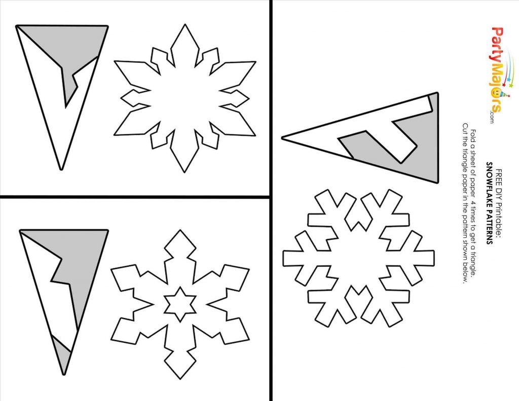 Easy Snowflake Template | Fiddler On Tour - Snowflake Template Free Printable
