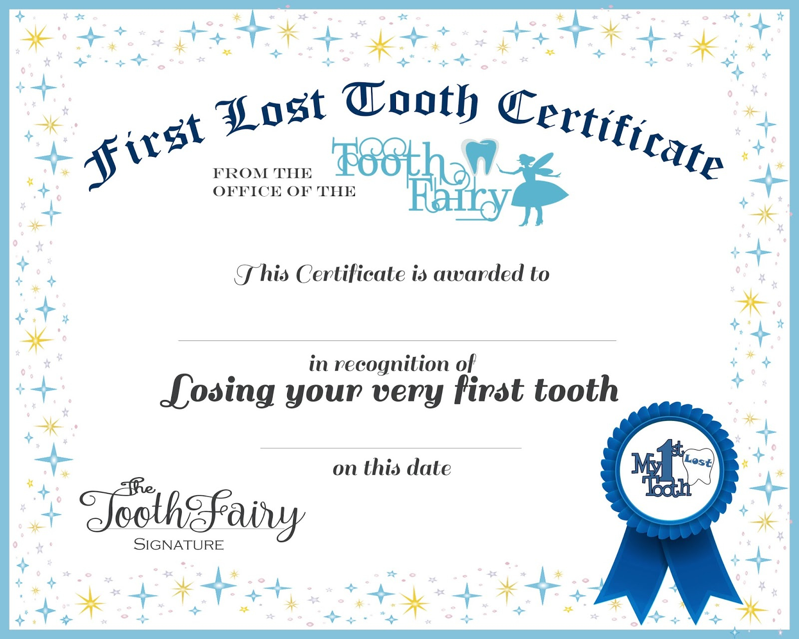 Easy Tooth Fairy Ideas Tips For Parents Free Printables For Tooth - Free Printable Tooth Fairy Certificate