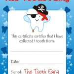 Easy Tooth Fairy Ideas & Tips For Parents / Free Printables – Free Printable First Lost Tooth Certificate
