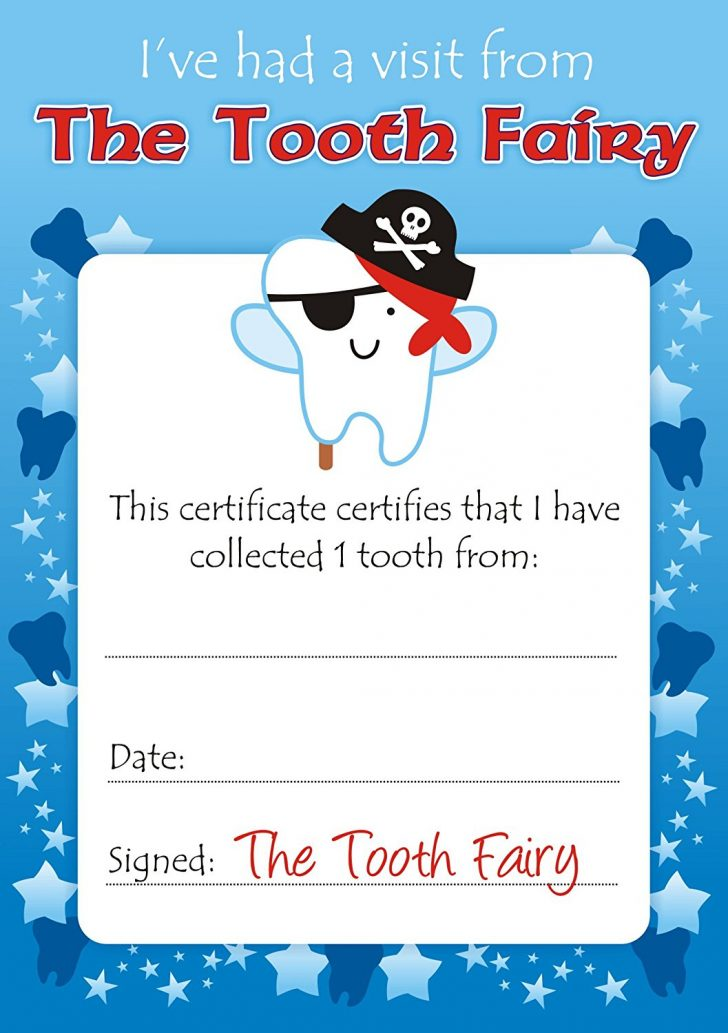 Free Printable First Lost Tooth Certificate