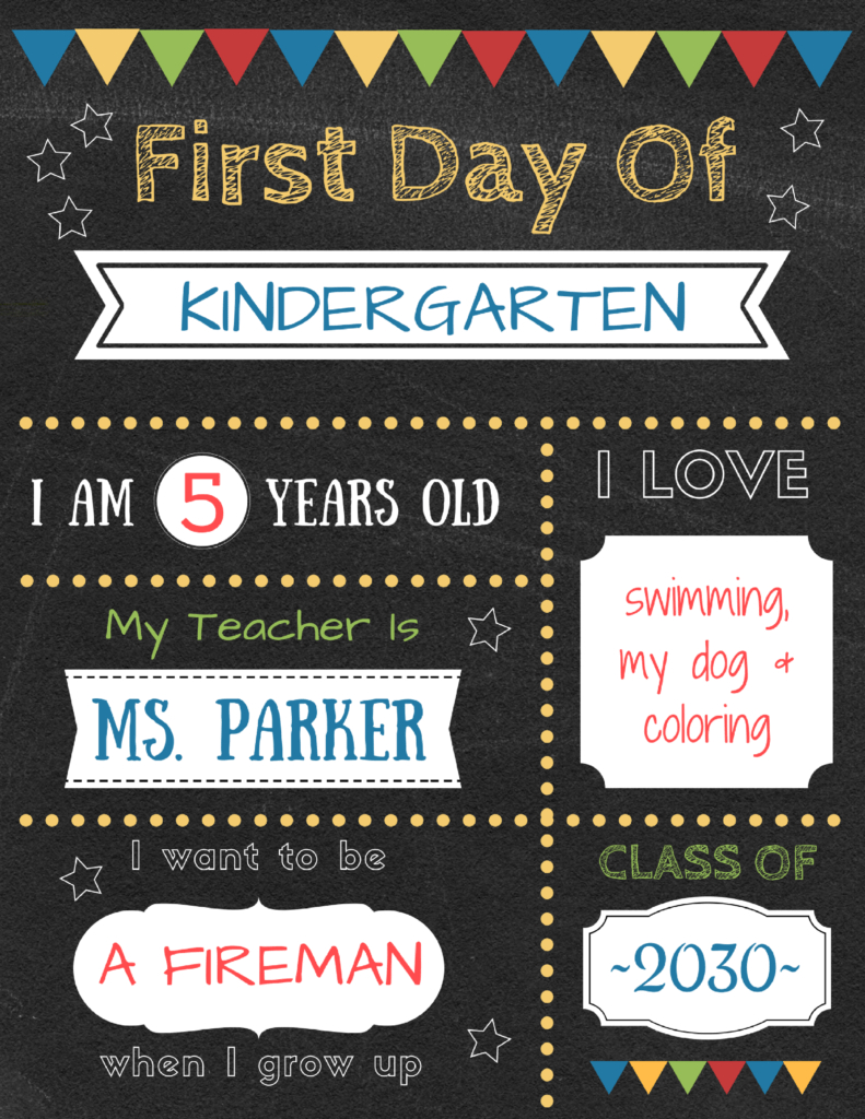 Editable First Day Of School Signs To Edit And Download For Free! - Free Printable First Day Of School Chalkboard Signs