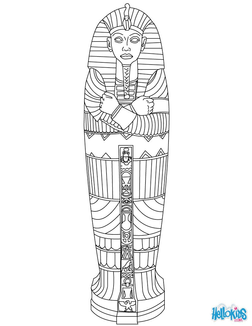 Egyptian Sarcophagus Coloring Page | Line Work | Pinterest | Ancient - Free Printable Sarcophagus