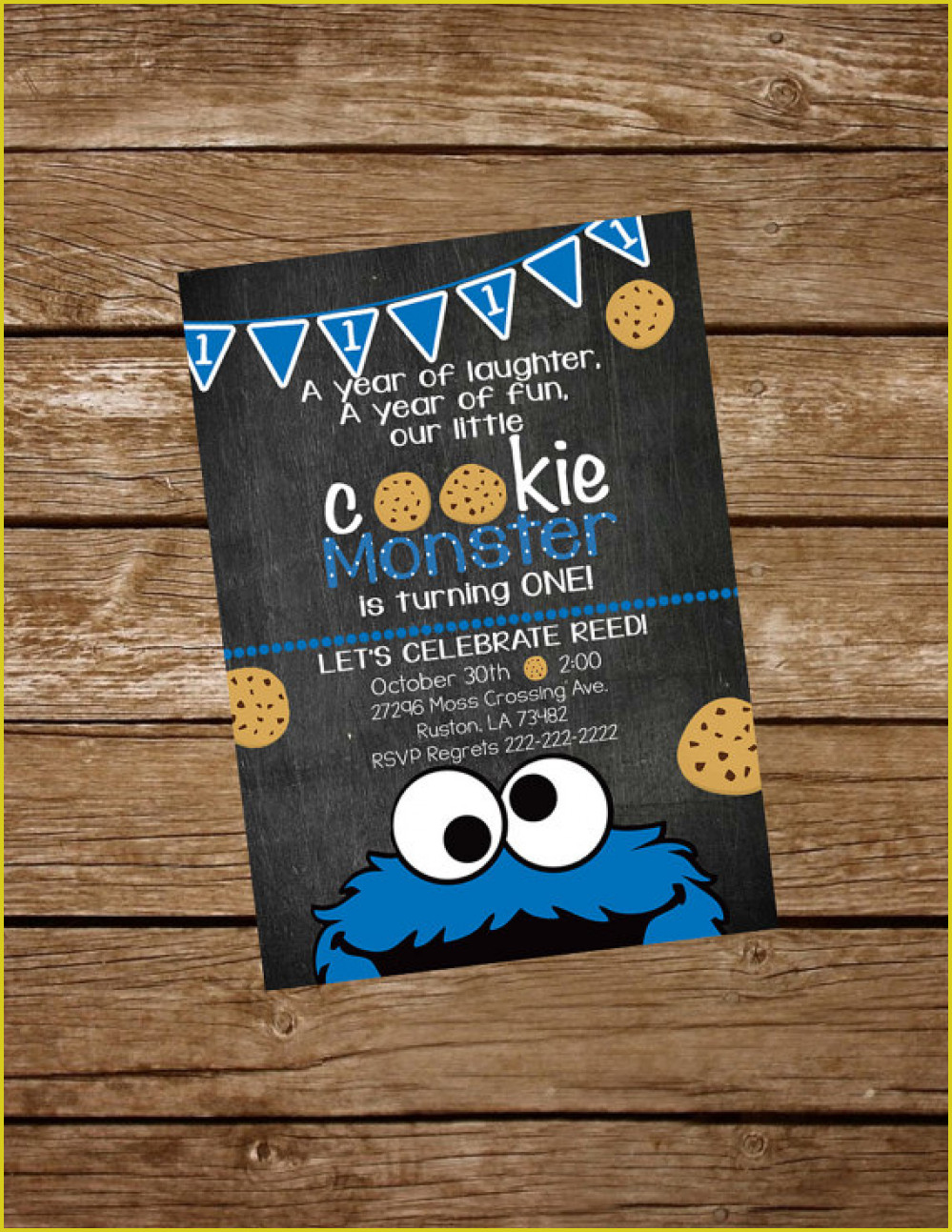 Elegant Cookie Monster Birthday Invitations Which Can Be Used As - Free Printable Cookie Monster Birthday Invitations