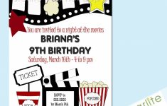 Elegant Free Printable Movie Ticket Birthday Party Invitations – Free Printable Movie Ticket Birthday Party Invitations