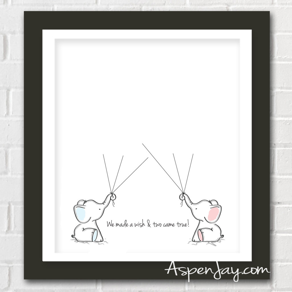 Elephant Baby Shower Guest Book Printable - Aspen Jay - Free Printable Elephant Baby Shower
