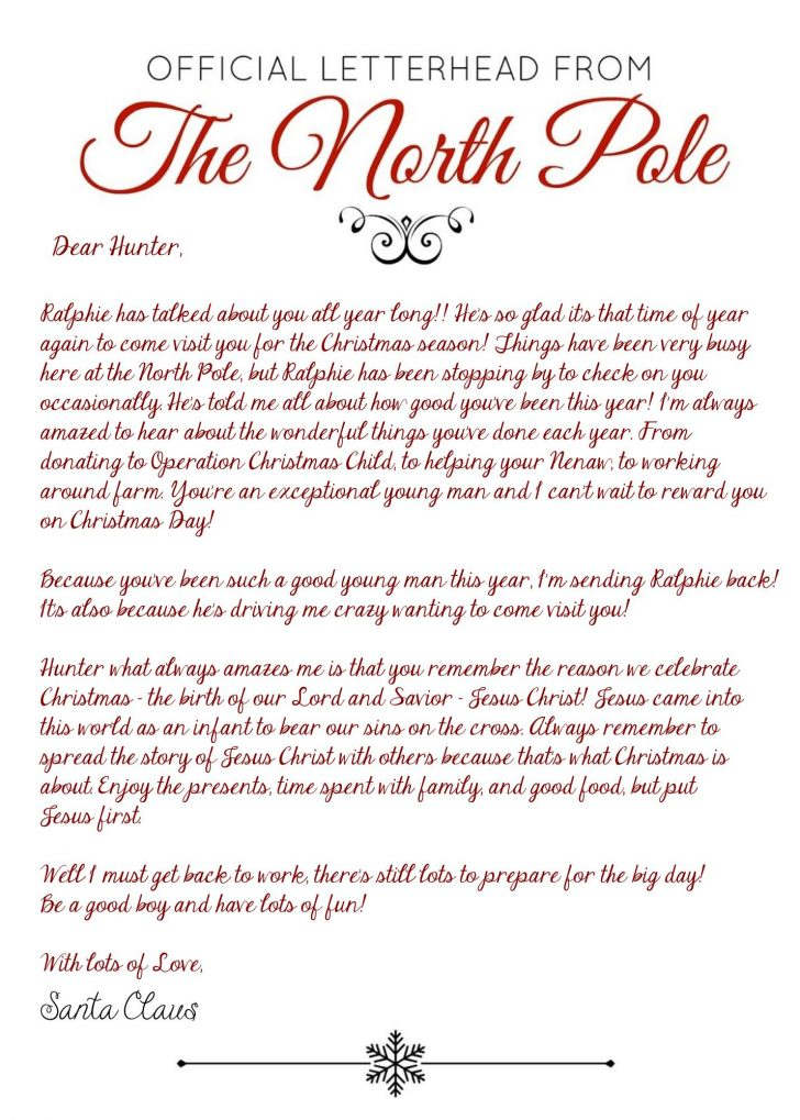 Free Printable Elf On Shelf Arrival Letter