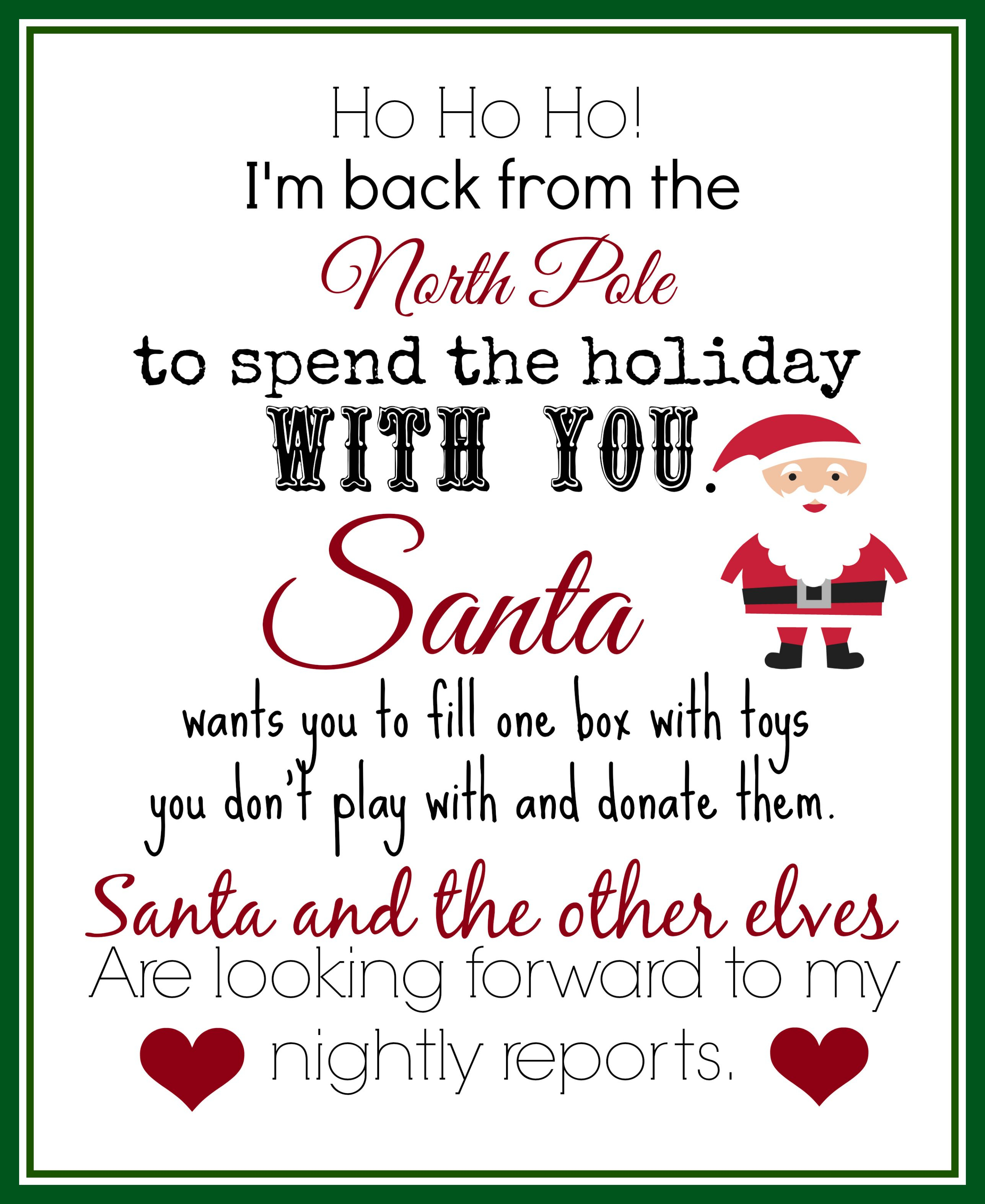 Elf On The Shelf Ideas For Arrival: 10 Free Printables | Elf On The - Free Printable Elf On The Shelf Letter