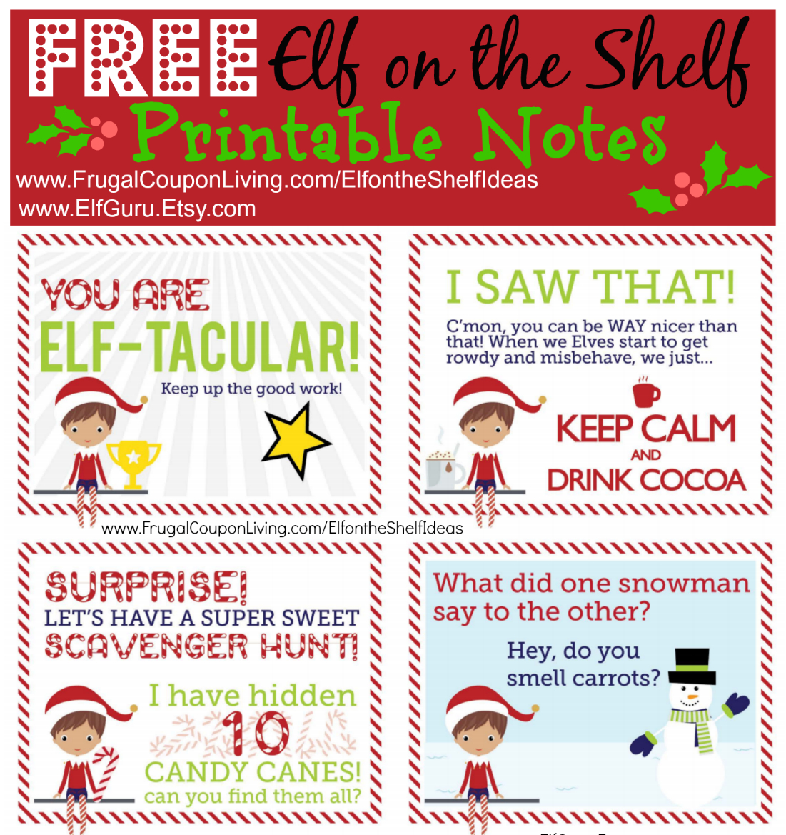 Elf On The Shelf Ideas | Free Elf Scavenger Hunt Note - Free Printable Elf On The Shelf Story