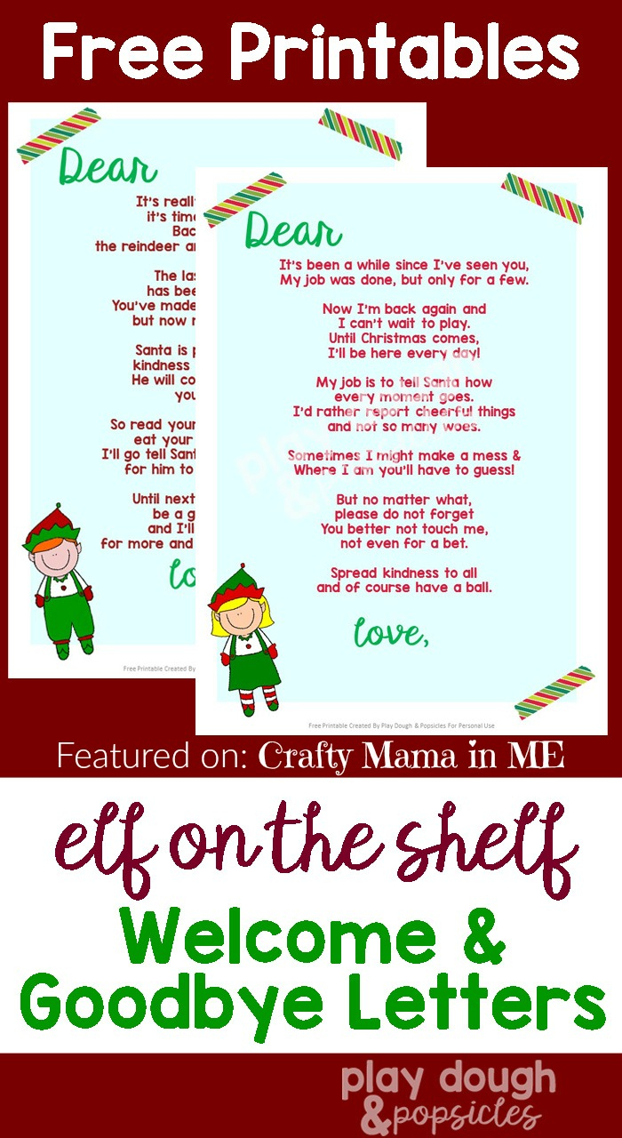 Elf On The Shelf Letters {Free Printables} - Crafty Mama In Me! - Free Printable Elf On The Shelf Letter