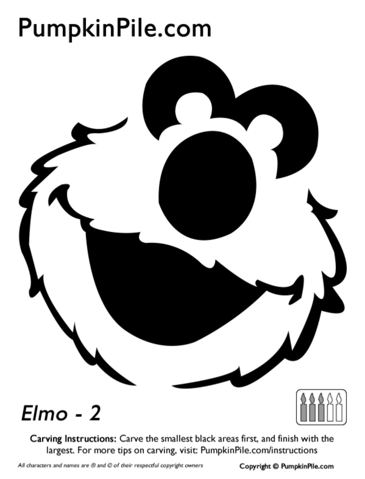 Elmo Pumpkin Carving Stencils Free Printable - 4.7.ybonlineacess.de • - Free Elmo Pumpkin Pattern Printable