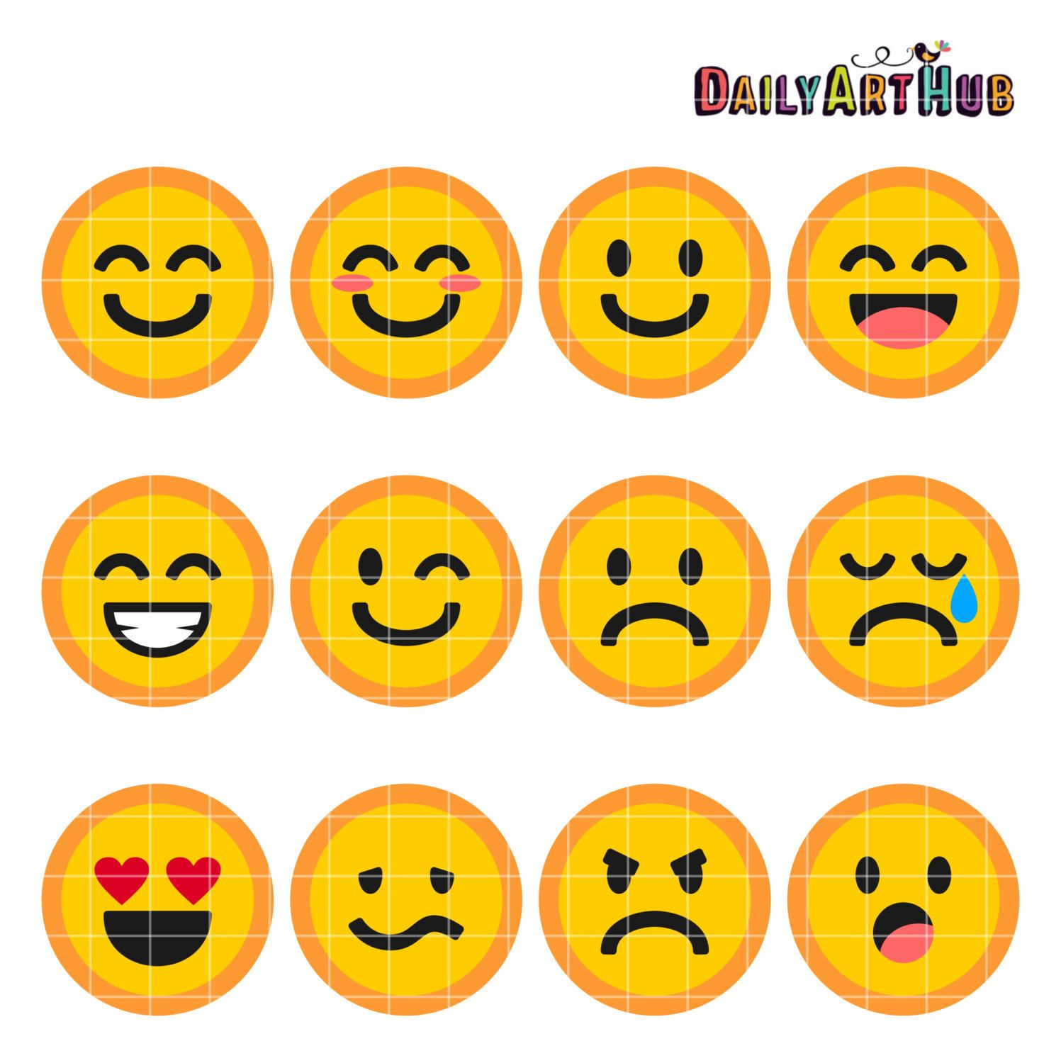 Emoticons Collage Clip Art Emoticons Symbols Clipart Emoticons Text - Free Printable Emoji Faces