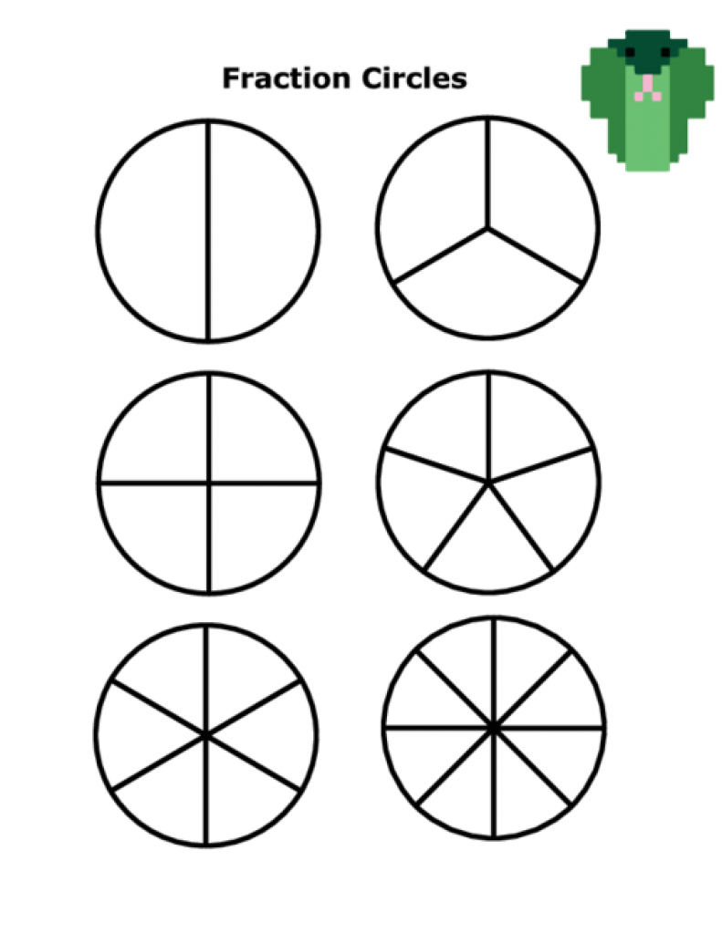 Empty Fraction Circles - Kidspressmagazine With Regard To Free - Free Printable Blank Fraction Circles