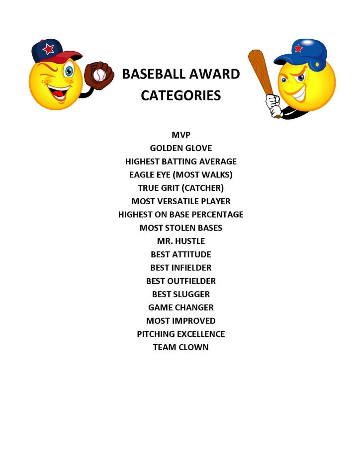 Free Printable Baseball Certificates