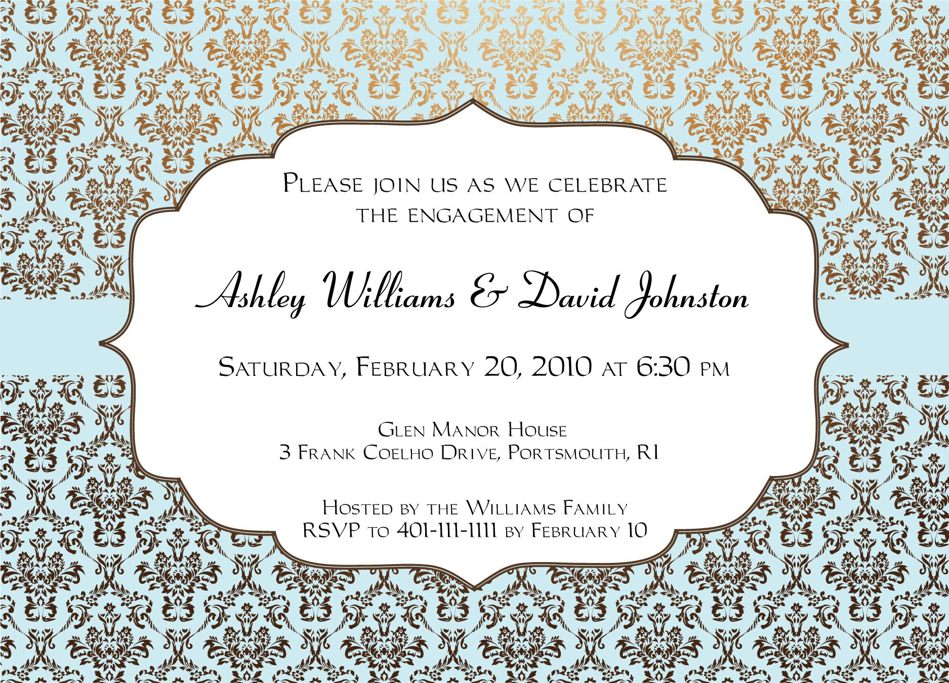 Engagement Party Invitations Templates |  Invitation Templates - Free Printable Engagement Party Invitations