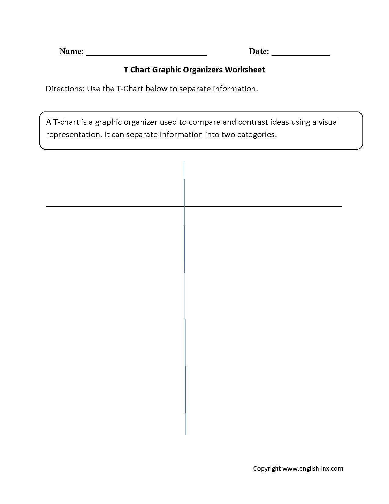 Englishlinx | Graphic Organizers Worksheets - Free Printable Main Idea Graphic Organizer