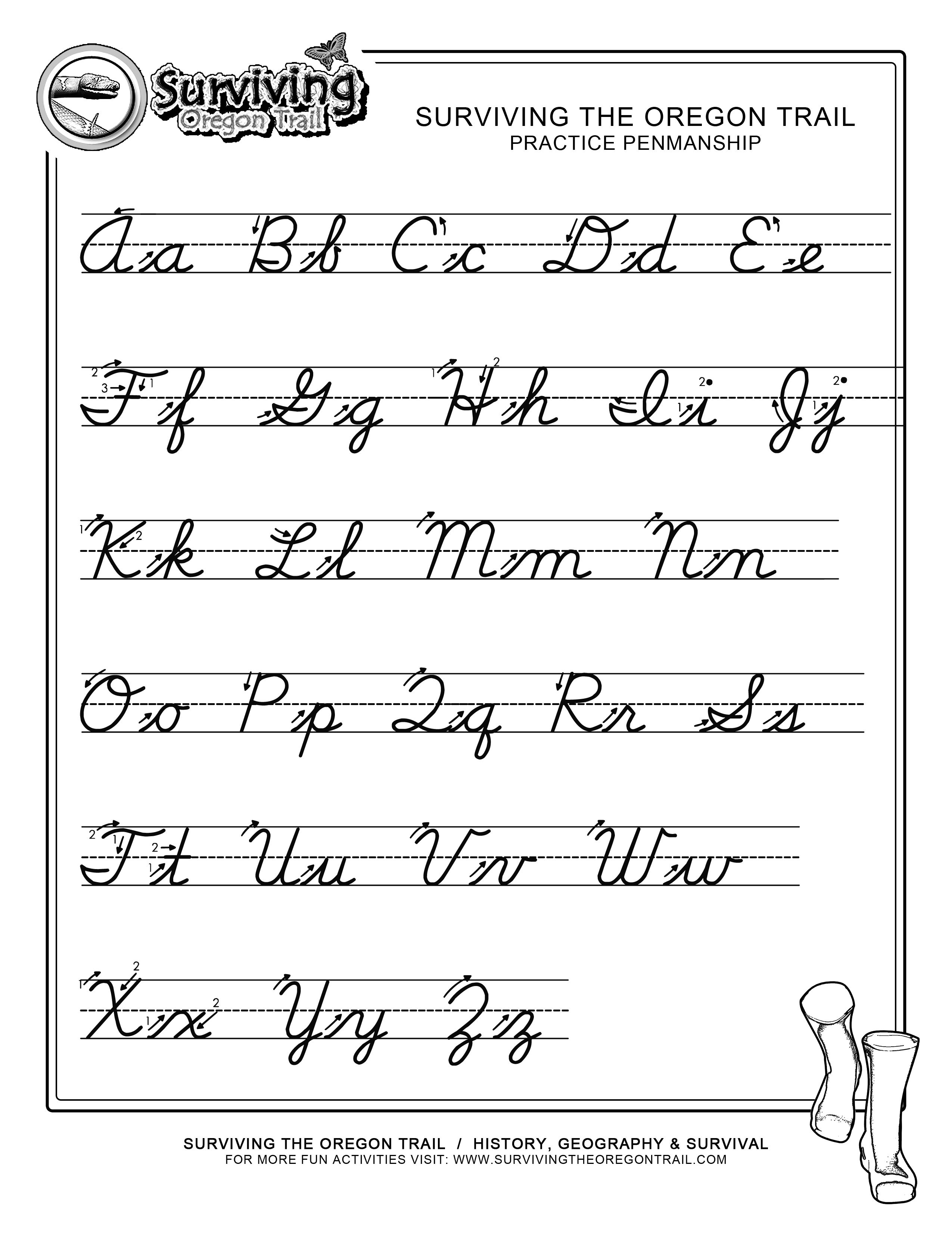 Enjoy Our Free Printable Worksheets. Great For Home School Parents - Free Printable Cursive Alphabet
