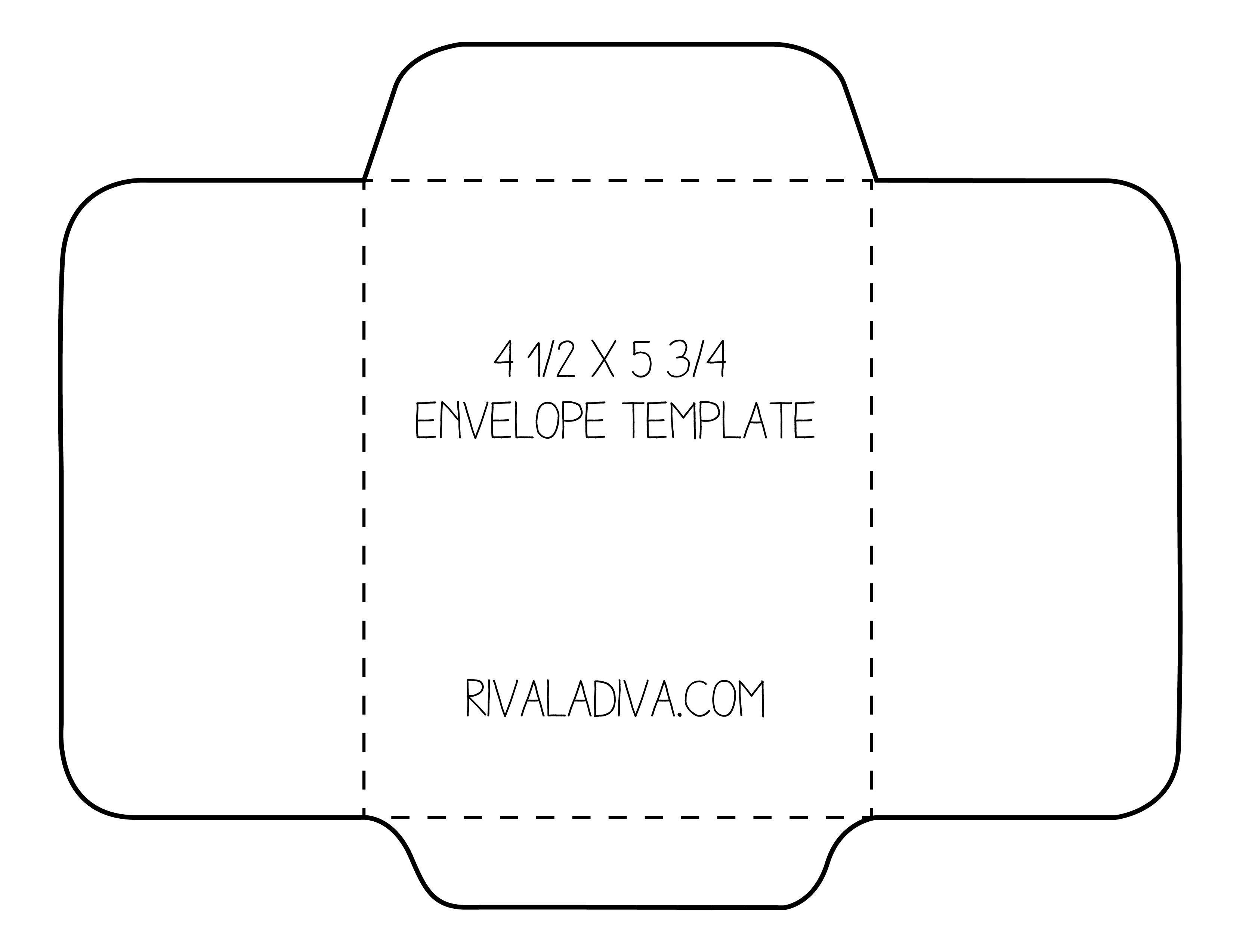 Envelope Template | Envelope Template For 8.5 X 11 Paper Diy - Free Printable Envelope Size 10 Template