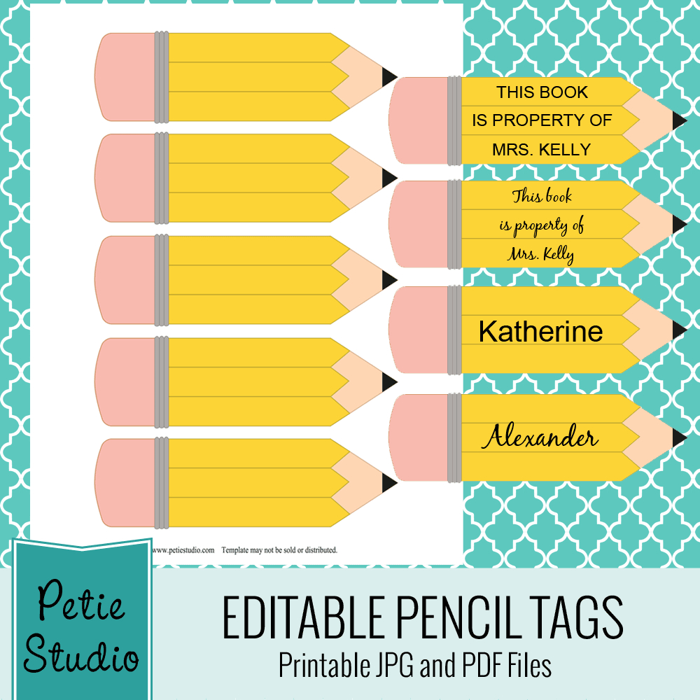 Étiquettes Crayon Free Printable Back To School | Print | Pinterest - Free Printable Crayon Pattern
