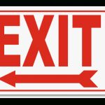 Exit (Left Arrow) 2 Way Sign A5102  Safetysign For Free Printable   Free Printable Exit Signs With Arrow