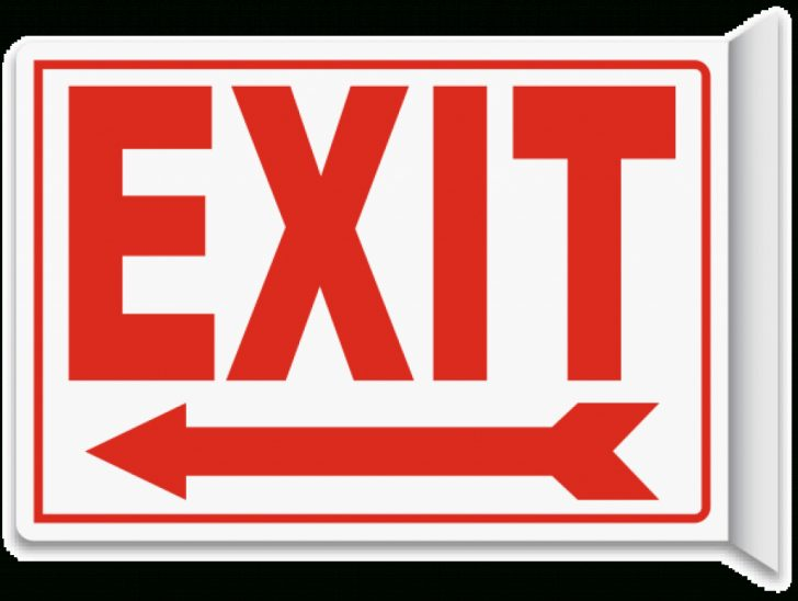 Free Printable Exit Signs With Arrow