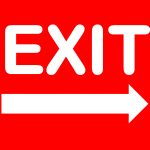 Exit Sign   Free Printable Exit Signs With Arrow