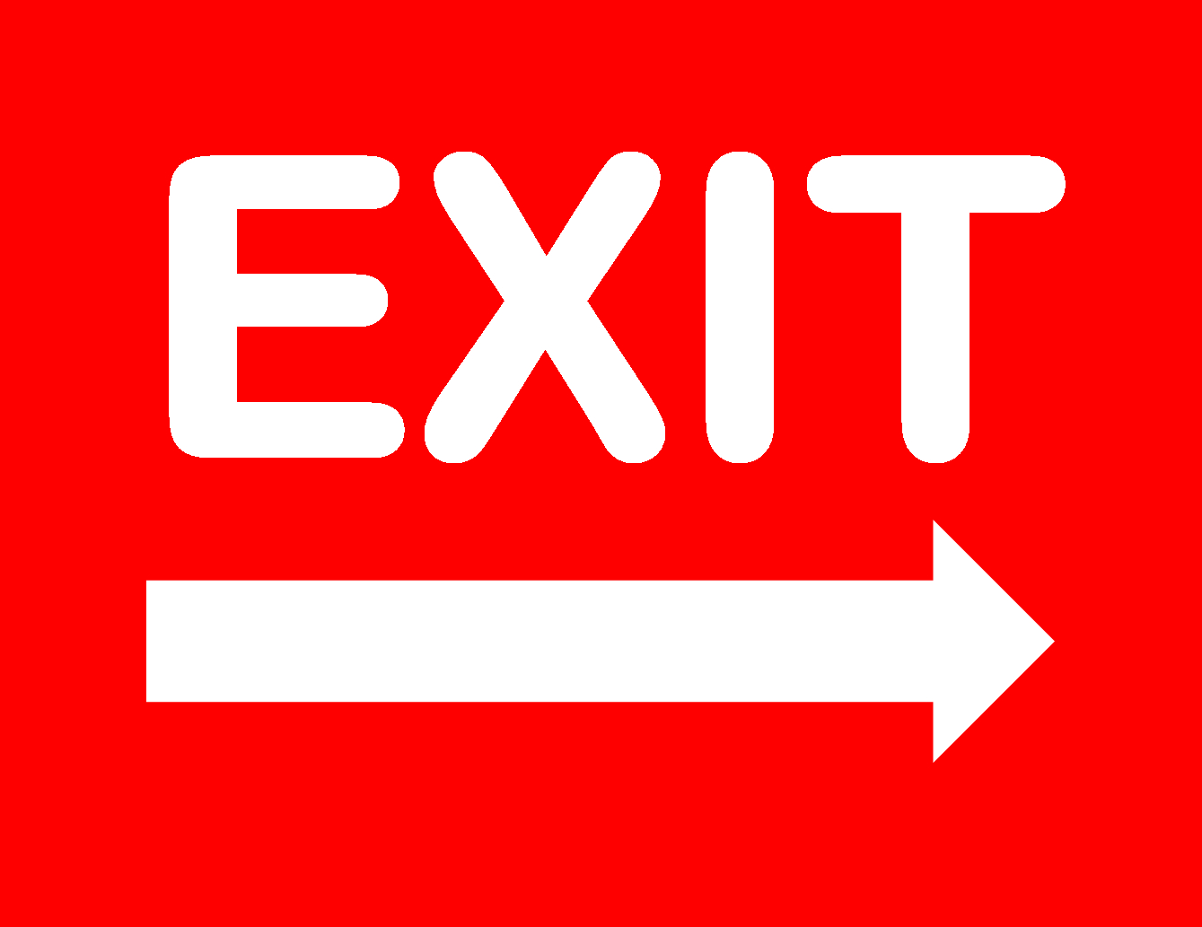 Exit Sign - Free Printable Exit Signs