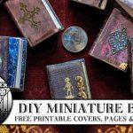 🖌 Diy Miniature Books 📚   Youtube   Free Printable Miniature Book Covers