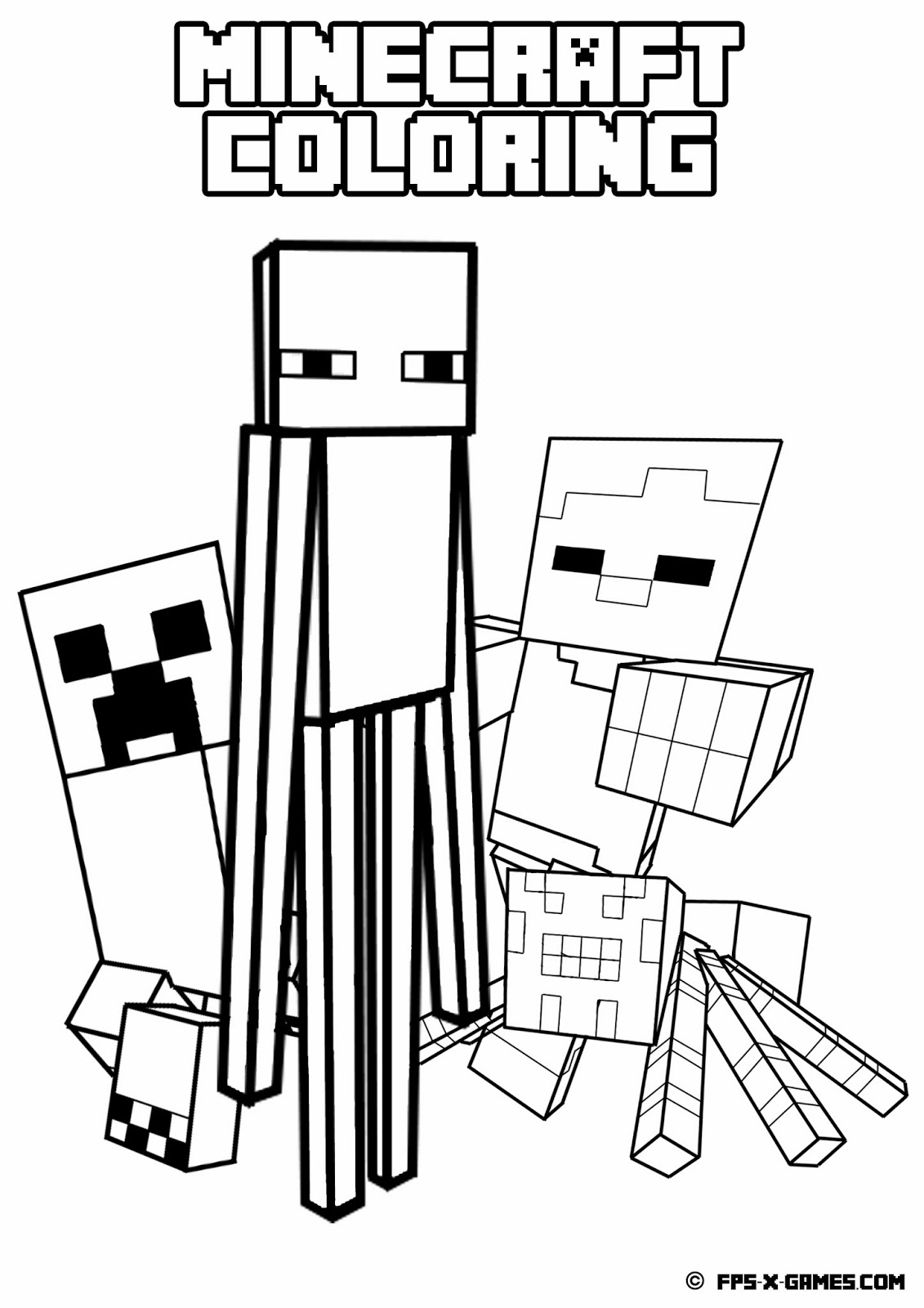 Facebook - Free Printable Minecraft Activity Pages
