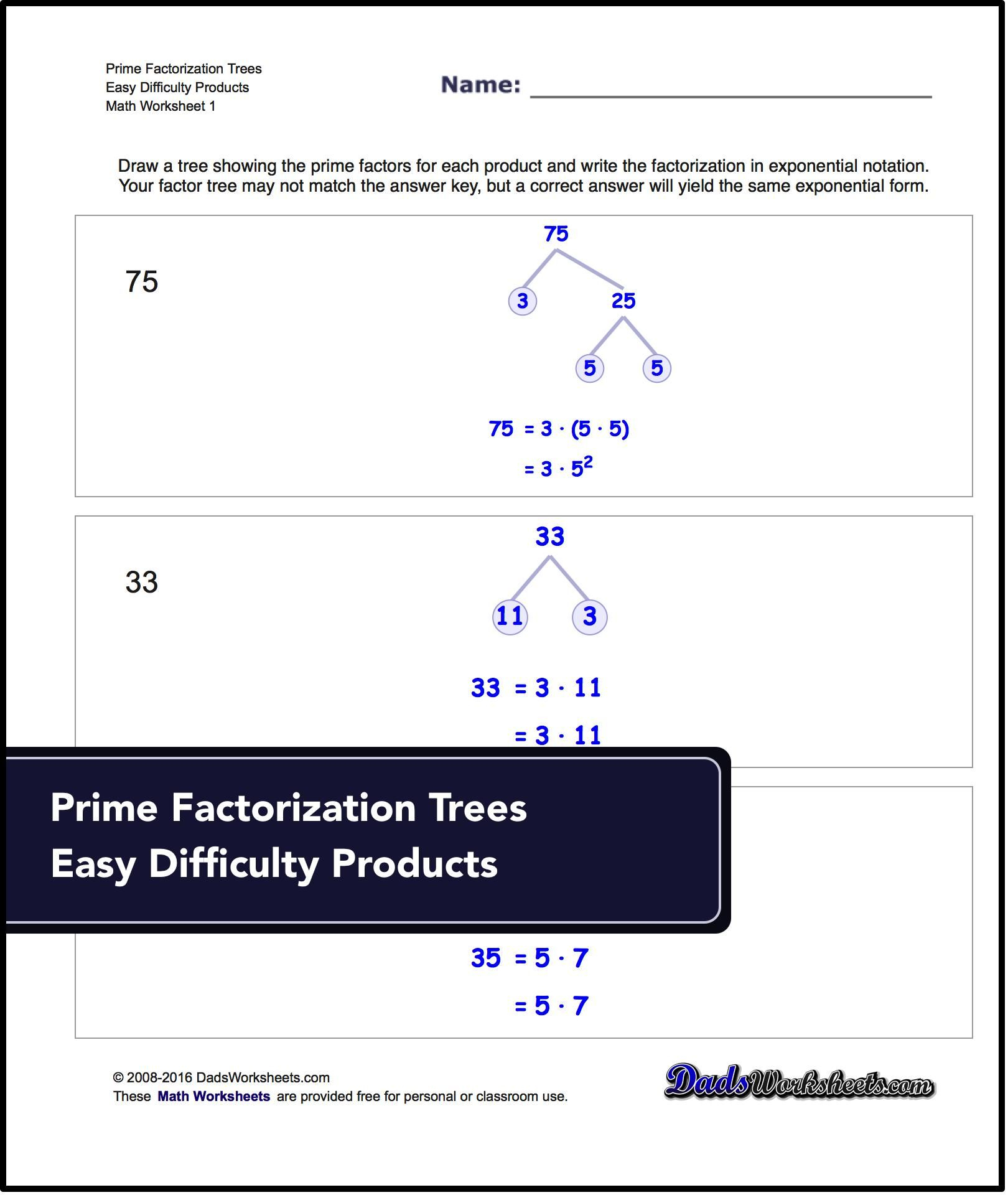 Factorization, Gcd, Lcm Printable Worksheets For Free! | Math - Free Printable Lcm Worksheets