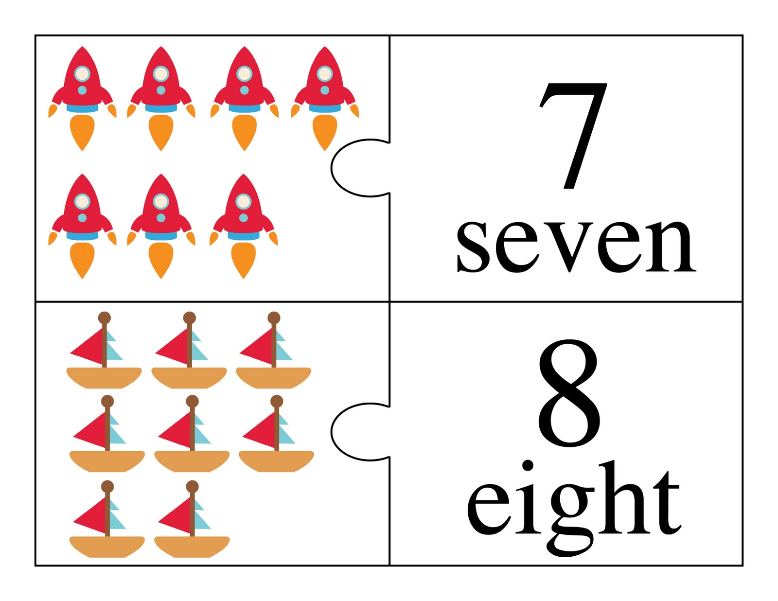 Fairy And Friends And Vehicle Counting Flash Cards And 2-Part - Free Printable Number Flashcards 1 30