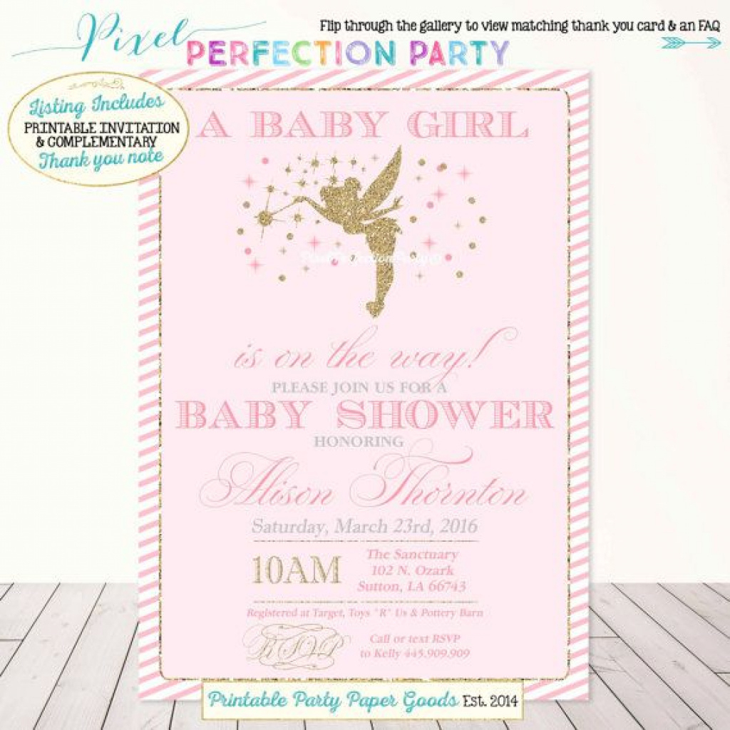 Fairy Baby Shower Invitations Fairy Ba Shower Ba Showers Ideas With - Free Printable Tinkerbell Baby Shower Invitations