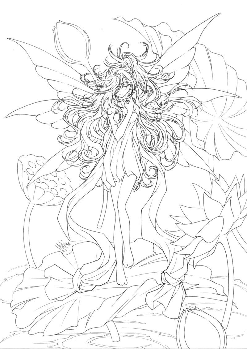 Fairy Coloring Pages For Adults To Download And Print For Free - Free Printable Coloring Pages Fairies Adults