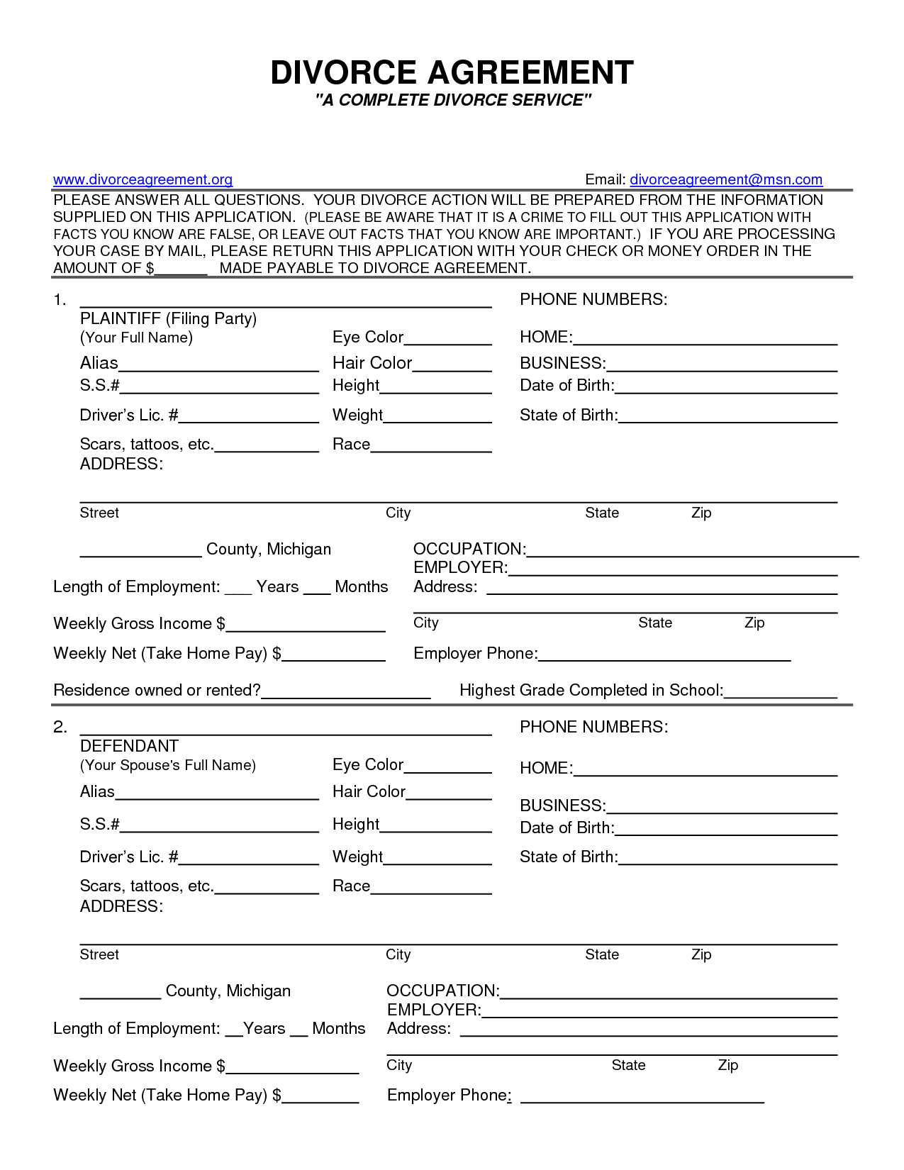 Fake Divorce Papers Pdf | Worksheet To Print | Fake Divorce Papers - Free Printable Divorce Papers For Illinois