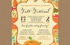 Fall Festival Flyer Templates Free | Penaime – Free Printable Fall Festival Flyer Templates