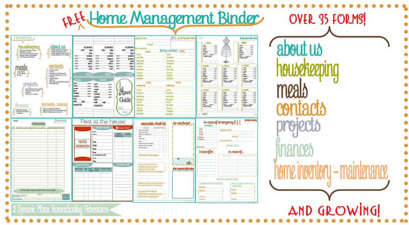 Family Home Binder - 6.9.kaartenstemp.nl • - Free Printable Household Binder