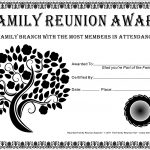 Family Reunion Certificates   Tree In Bloom 2 Is A Free Family   Free Printable Family Reunion Awards