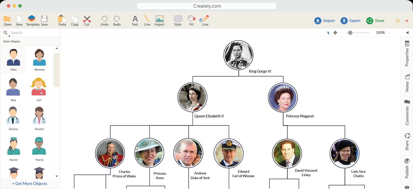 Family Tree Maker | Create Family Tree Online | Creately - Family Tree Maker Online Free Printable