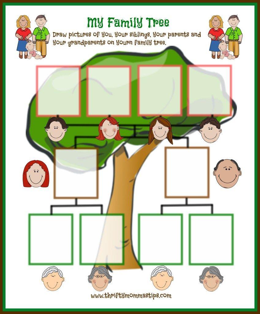Family Tree Printable | Curriculum | Pinterest | Family Tree - My Family Tree Free Printable Worksheets